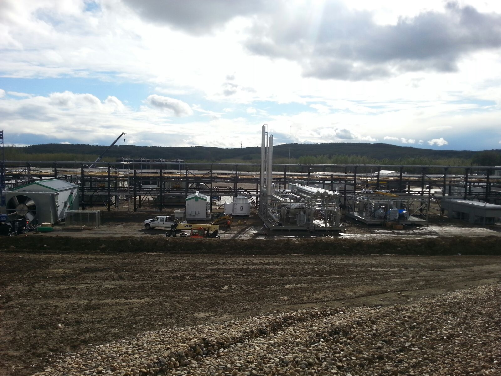 Deep Cut Gas Plant OIlfield Construction